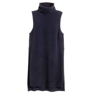 H&M Premium Quality Cashmere Sleeveless Turtleneck